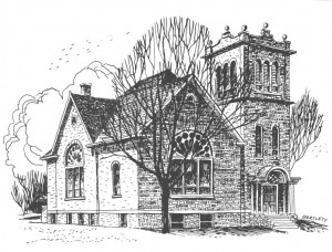 Drawing of Lody Presbyterian Church